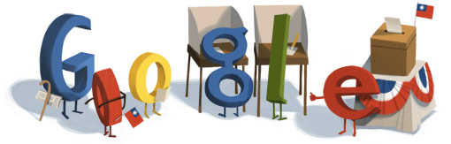 Google Logo: Presidential and legislative elections in Taiwan