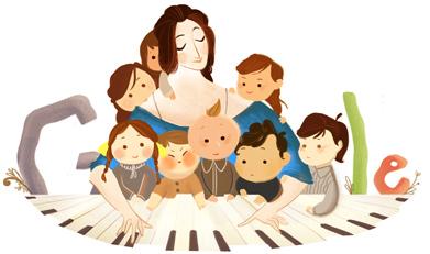 德國鋼琴家 Clara Schumann 193歲誕辰