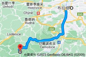 從布拉格 捷克前往卡爾什特因城堡267 18 Karlštejn, 捷克的路徑地圖