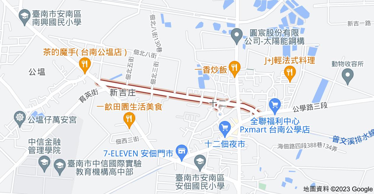 709台南市安南區十二佃路地圖