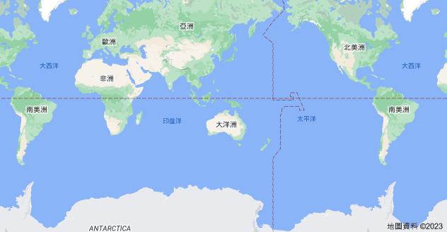 大洋洲地圖