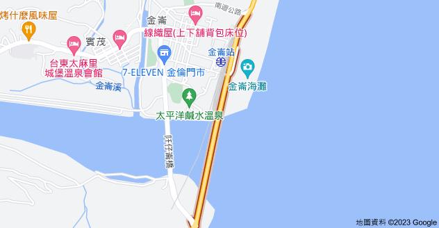 963台東縣太麻里鄉金崙大橋地圖