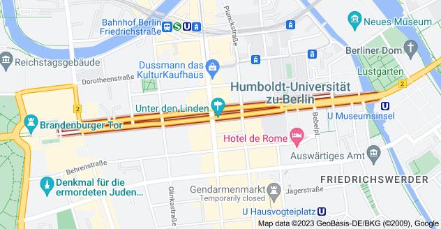 Map of Unter den Linden, 10117 Berlin, Germany